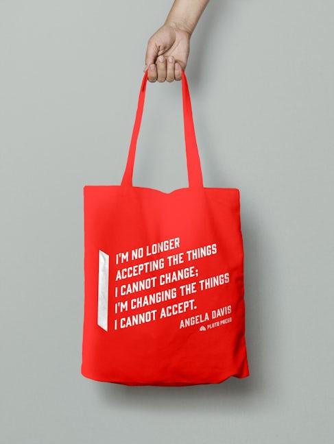 Angela Davis Tote Bag - Red