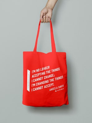 Angela Davis Tote Bag - Red